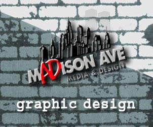 Advertisement: Madison ave graphic design