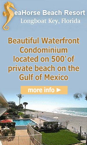 Advertisement: Seahorse Beach Resort is a beautiful waterfront condominium located on 500 feet of private beach on the Gulf of Mexico. Learn More