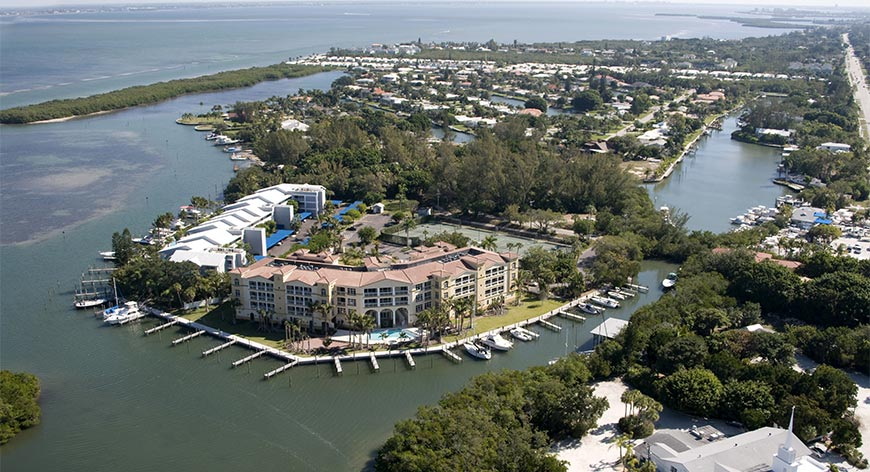 Aerial view view of Longoboat Key Resort
