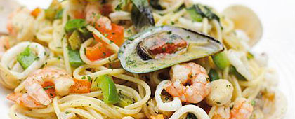 shellfish and pasta