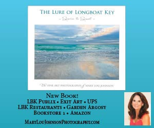 Advertisement: New book called The Lure of Longboat Key by Mary Lou Johnson.