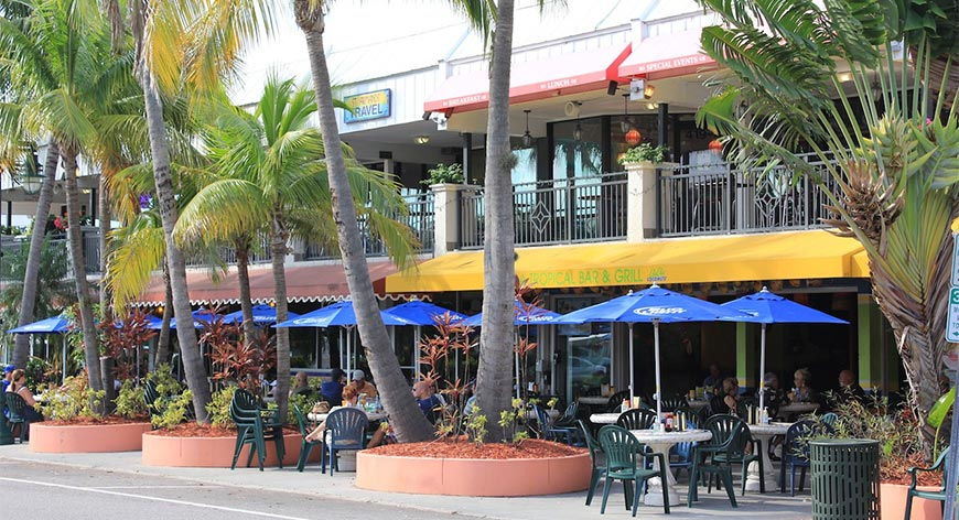 St Armands restaurants around the Tropical Grill