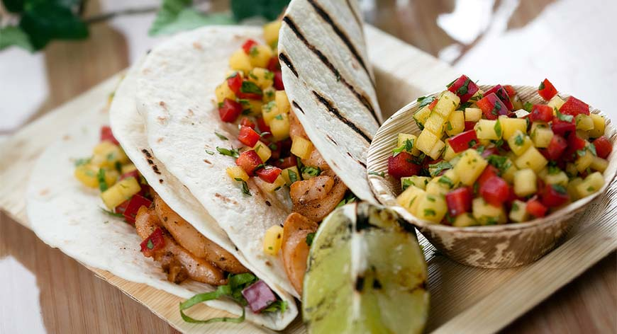 Seafood Tortillas with Mango Salsa