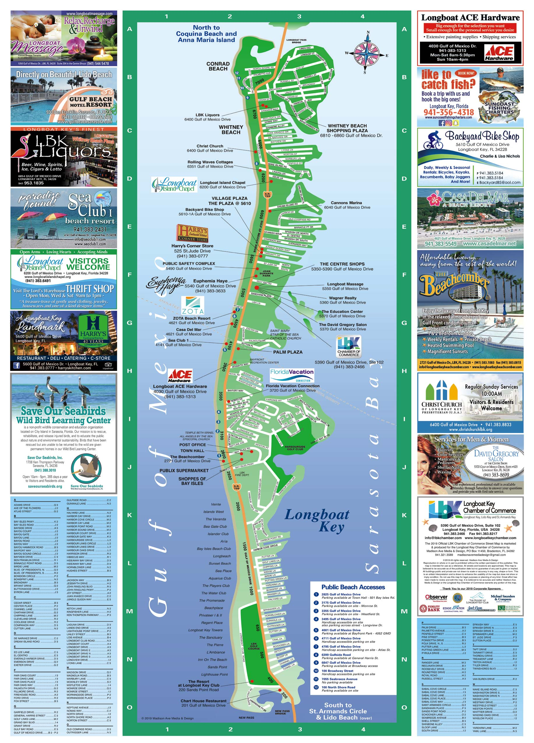 Longboat Key Map Longboat Key Chamber Of Commerce